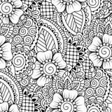 Zwart-wit naadloos patroon Stock Foto