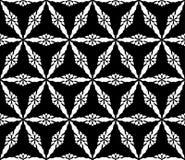 Zwart-wit naadloos patroon, driehoekige roostertextuur Royalty-vrije Stock Foto's