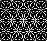 Zwart-wit naadloos patroon, driehoekige roostertextuur Stock Afbeeldingen