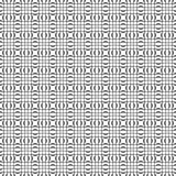 Zwart-wit naadloos patroon Geometrische behang of websiteachtergrond Royalty-vrije Stock Foto