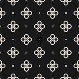 Zwart-wit naadloos patroon, geometrische vectortextuur, vlotte ou Royalty-vrije Stock Fotografie