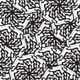 Zwart-wit naadloos patroon met gestileerde bloemenontwerpen Stock Fotografie
