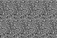 Zwart-wit naadloos patroon met karakters vector illustratie