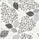 Zwart-wit naadloos patroon met lilac bloemen Vector illustrat Stock Foto's