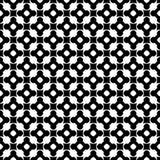 Zwart-wit naadloos patroon, ornamenttextuur Stock Afbeelding