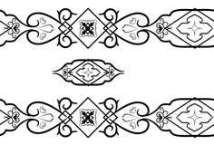 Zwart-wit naadloos patroon. Vector illustrat Stock Afbeelding
