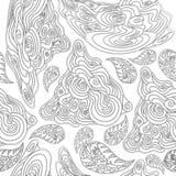 Zwart-wit naadloos patroon voor het kleuren van boeken stock illustratie