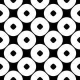 Zwart-wit naadloos patroon, zwarte & witte cirkelstextuur Royalty-vrije Stock Afbeelding