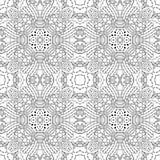 Zwart-wit naadloos psychedelisch patroon Stock Foto's