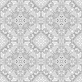Zwart-wit naadloos psychedelisch patroon Stock Fotografie