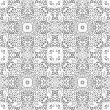 Zwart-wit naadloos psychedelisch patroon Royalty-vrije Stock Fotografie