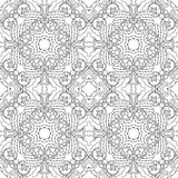 Zwart-wit naadloos psychedelisch patroon Royalty-vrije Stock Foto's