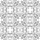 Zwart-wit naadloos psychedelisch patroon Royalty-vrije Stock Afbeelding