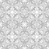 Zwart-wit naadloos psychedelisch patroon Royalty-vrije Stock Foto