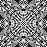 Zwart-wit Naadloos Stammenpatroon Royalty-vrije Stock Fotografie