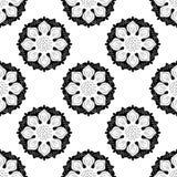 Zwart-wit Naadloos van Lotus Royalty-vrije Stock Afbeeldingen