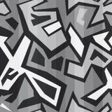Zwart-wit naadloze graffiti Royalty-vrije Stock Afbeelding