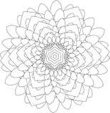 Zwart-wit online art. Geometrisch rond ornament Royalty-vrije Stock Afbeelding