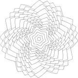 Zwart-wit online art. Geometrisch rond ornament Stock Foto's