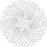 Zwart-wit online art. Geometrisch rond ornament Stock Foto
