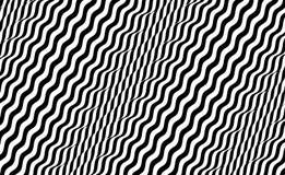 Zwart-wit ontwerp Patroon met optische illusie Abstracte 3d geometrische achtergrond Vector illustratie vector illustratie