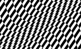Zwart-wit ontwerp Patroon met optische illusie Abstracte 3d geometrische achtergrond Vector illustratie stock illustratie