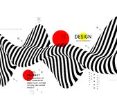 Zwart-wit ontwerp Patroon met optische illusie Abstracte 3d geometrische achtergrond Vector illustratie royalty-vrije illustratie