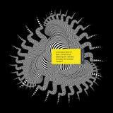 Zwart-wit ontwerp Patroon met optische illusie Abstracte gestreepte achtergrond Vector illustratie stock illustratie