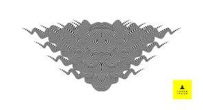 Zwart-wit ontwerp Patroon met optische illusie Abstracte gestreepte achtergrond Vector illustratie vector illustratie