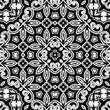 Zwart-wit ornament Royalty-vrije Stock Afbeeldingen