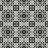 Zwart-wit ornamentpatroon royalty-vrije illustratie
