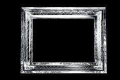 Zwart-wit oud grungekader Stock Foto's