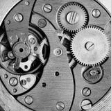 Zwart-wit oud uurwerk Royalty-vrije Stock Fotografie