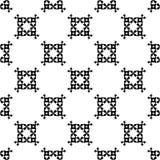 Zwart-wit overladen naadloos patroon Stock Foto