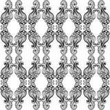 Zwart-wit Overladen Patroon Royalty-vrije Stock Afbeelding