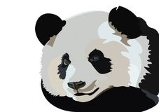 Zwart-wit Panda Vector Tracing Art Design stock illustratie
