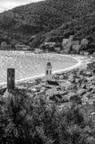 Zwart-wit panorama van Noli stock afbeelding