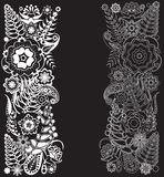 Zwart-wit patroon Royalty-vrije Stock Afbeeldingen