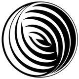 Zwart-wit patroon in een cirkel. Stock Foto's