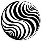 Zwart-wit patroon in een cirkel. Achtergrond. Stock Fotografie