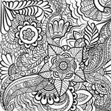 Zwart-wit patroon in een zentanglestijl Royalty-vrije Stock Fotografie