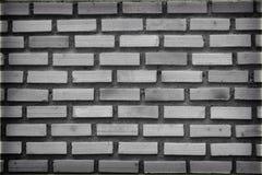 Zwart-wit patroon van bakstenen muur, oude bakstenen muurachtergrond royalty-vrije stock fotografie