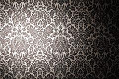 Zwart-wit patroonbehang. Royalty-vrije Stock Afbeeldingen