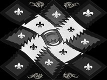 Zwart-wit plastic het roosterschaakbord van de textuurstijl Stock Foto