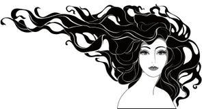 Zwart-wit portret Vector Illustratie