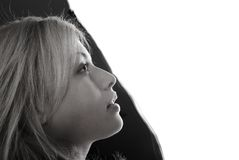 Zwart-wit portret Stock Afbeelding