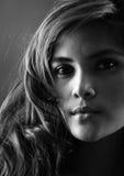 Zwart-wit portret Stock Foto