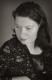 Zwart-wit portret van de vrouw stock foto's
