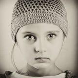 Zwart-wit portret van een meisje stock foto