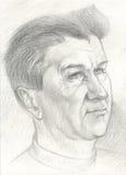 Zwart-wit portret van een mens Stock Fotografie